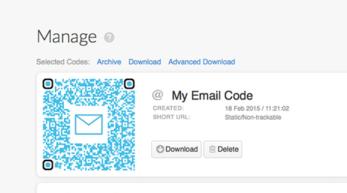 Email Codes, send and receive emails using QR Codes