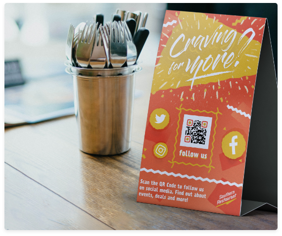 Websites & How to Use QR Codes on Table Tents - QR Code Generator