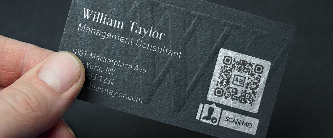 QR Codes on Business Cards  QR Code Generator PRO Inside Qr Code Business Card Template