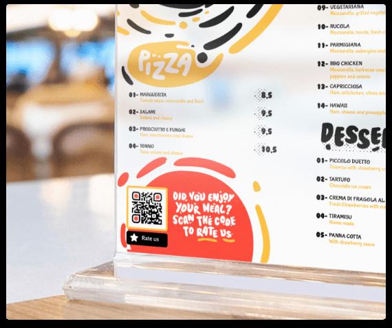 QR Codes on Table Tents | QR Code Generator PRO