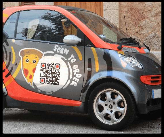 Vehicles with QR Codes | QR Code Generator PRO